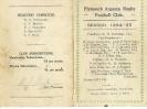 1934-35 Fixture Card