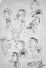 Team Caricatures circa 1937