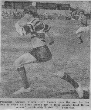 Clive Cooper in action in The Devon Sevens
