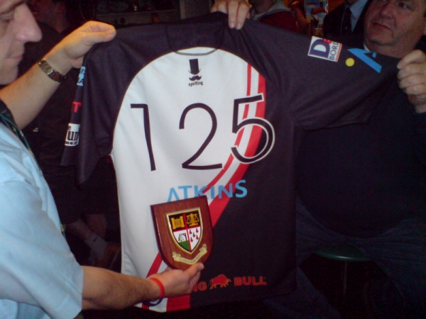 Cotham Park Tour Shirt presented to the club
