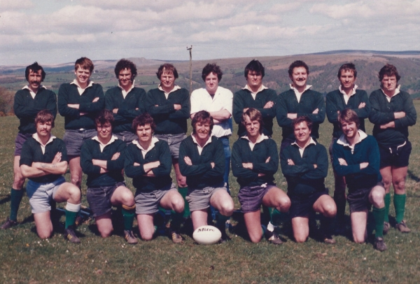 1st XV 1981-82: Back Row: B. Willcocks, J.Gretton, A.Davey, F.Rogers, R.Carlson, R.Beasor, D.Franklin, A.Phillips, G.Baskerville. Front Row: V.Barnett, D.Crawford, R.Staniland, M.Worth (capt), T.Rapier, J.Studds, N.Hall.
