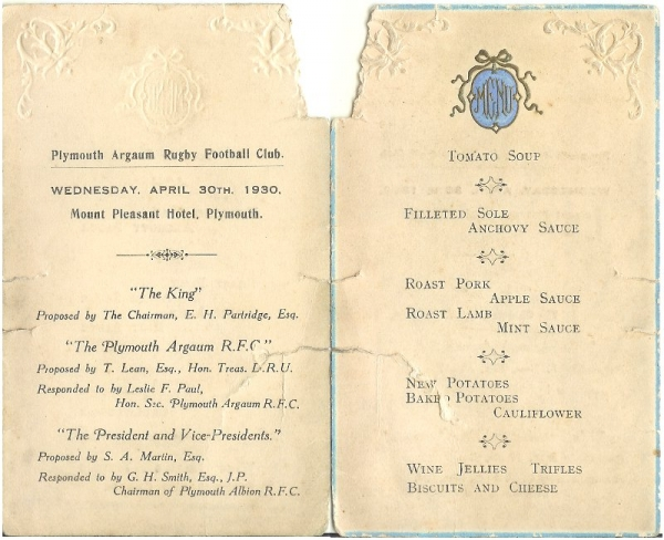 Invitation To End Of Season Dinner