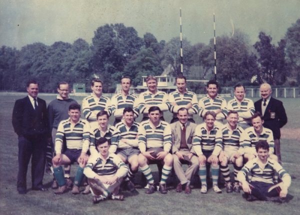1st XV v Torquay Harlequins April 29th 1961: R.Friend, G.Finnie, A.Stidwell, I.Mason, P.Heaton, D.Board, P.Green, C.Magill, TK Hitchins; A.Banks, M.Perkins, D.Algate, J.Keating, C.Uren, J.Davies, M.Spencer, G.Bryan; C.Sutton, W.Ryan