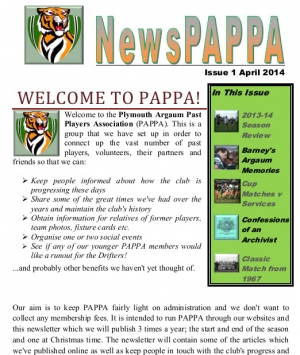 NewsPAPPA Issue 1 - April 2014